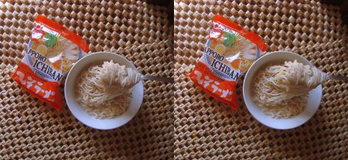 Stereograph - Sapporo Ichiban Noodles by alanbecker