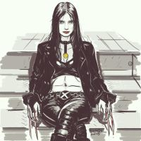 X-23 Fan Art by B-on-D