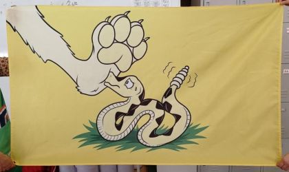 Flag Design - Paw on Snake by SouthParkTaoist