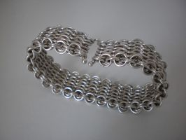 Tempered Silver chain braclet by Gruntoks
