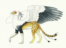 African Gryphon by Rebeccannoying