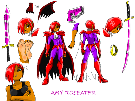 Amy Roseater With Fetisheater Armor And Weapons by amyroseater