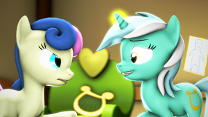 {SFM} MLP: Lyra and Bonbon day by jaygaming1