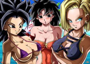 Caulifla / Gine / 18 - Suimsuit Version by Maniaxoi
