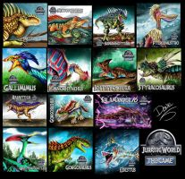Illustrations Jurassic World second half 2016 by wingzerox86