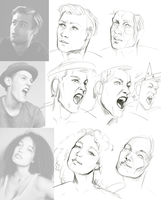 Studies: faces 2 by Remarin