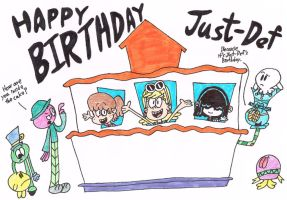 Happy Birthday Just-Def (Color) by thecrazyworldofjack