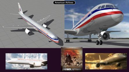 Boeing 757 American Airlines  by iconkid