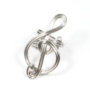Sterling Silver Treble Clef Ear Cuff GIVEAWAY by Gailavira