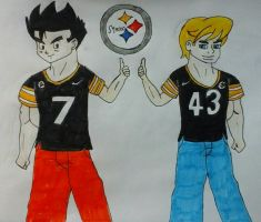 Steelers Gohan and Jonny by JQroxks21