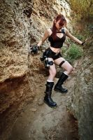 Lara Croft Underworld - sliding by TanyaCroft
