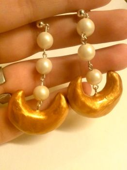 Sailor moon cosplay costume earrings by gummibearmaster
