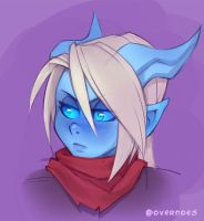 Draecember 19th - Blushing by Zeon-in-a-tree