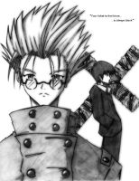 Trigun- Troublesome Duo by squigi
