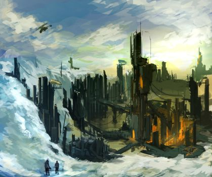 Combine Arctic Base by HeadcrabeD