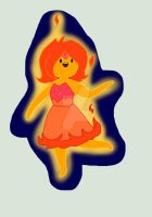 flame Princess(colored) by PinkishGiovanna