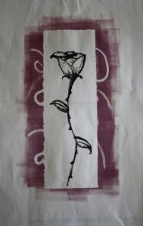 Rose monotype print by goldenspines