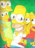 Sketch Pad Simpsons Family 1 by RozStaw57