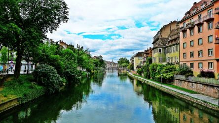 Strasbourg - View over the Ill by Paseas-Images