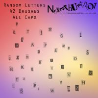 Ransom Letters Caps Brushes by neverhurtno1