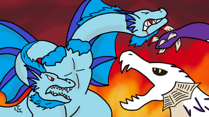 Art Trde: Frost Ghidorah Vs White Devil by Missingno-54