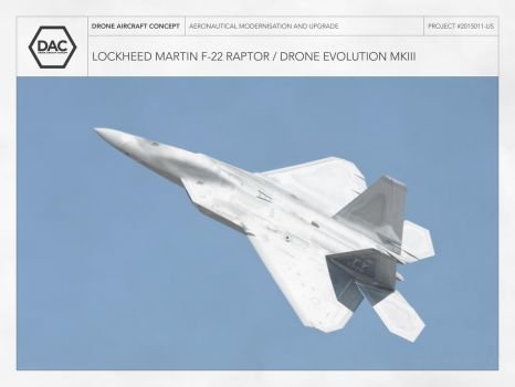 Lockheed Martin F-22 / Drone Evolution MKIII by droneaircraftconcept