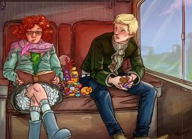 Rose Weasley and Scorpius Malfoy by lorainesammy