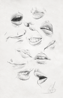 Mouths practice and reference sheet by StyrbjornAndersson