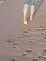 Footprints left in the sand by alstuart