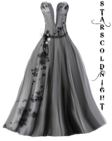 Grey dress PNG by starscoldnight by StarsColdNight