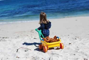 Girl with wagon 2 by stockmichelle