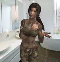 Lara - got soap? by dnxpunk