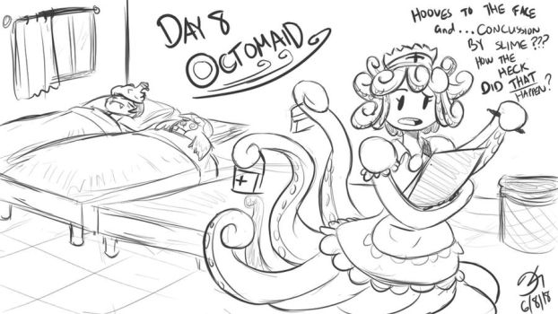 Monster Girl Challenge Day 8: Octomaid by MinionKing