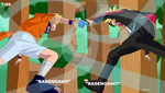 Uzumaki Battle!! The clash of their fathers jutsu! by InstaQuarius