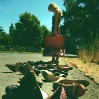 Trail of shoes. by tinaubuggin
