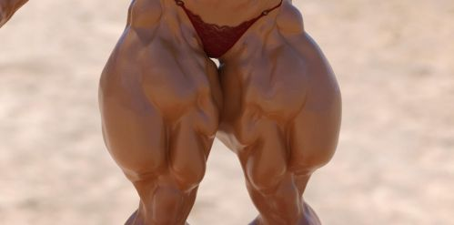 Girl bodybuilder 5 by TheRedCrown