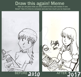 Draw this again meme by Firefly-color