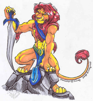 Anthro Simba by StangWolf
