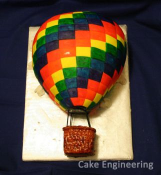 Hot Air Balloon Cake by cake-engineering