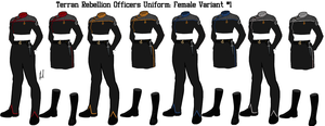 Terran Rebellion Officers Uniform Variant 1 Female by docwinter