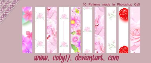 Flowers II Patterns by Coby17