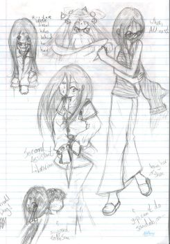 Lirael - Various Sketch Page by nakedturtle