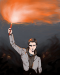 Art Trade: Alan Wake by Dezfezable