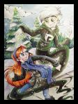 Commission: DP: Snowball Fight by sharkie19