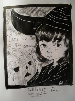 Inktober #1 - Time to get spooky by Fruit-sec