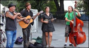French Quarter  Musicians by SalemCat