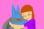 Me with Lucario by SusanLucarioFan16