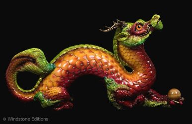 Pumpkin autumn leaf Oriental dragon by Reptangle