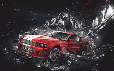 Ford Mustang Faux Ad by genosolido