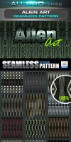 Alien Art Photoshop Pattern by ravirajcoomar